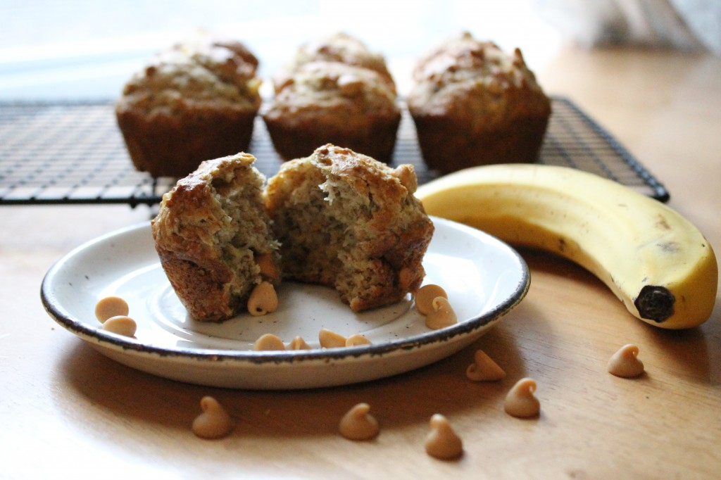 Eggless PB Banana Muffins