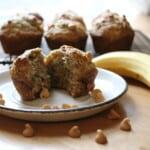 muffins sans oeufs banane et beurre d'arachide