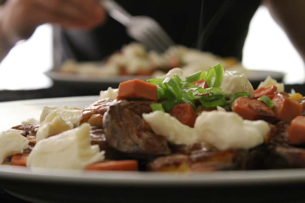 Poutine végétarienne pour 2, végane - - Valises & Gourmandises