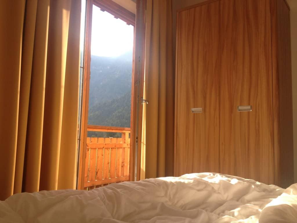 morning obertraun cabin
