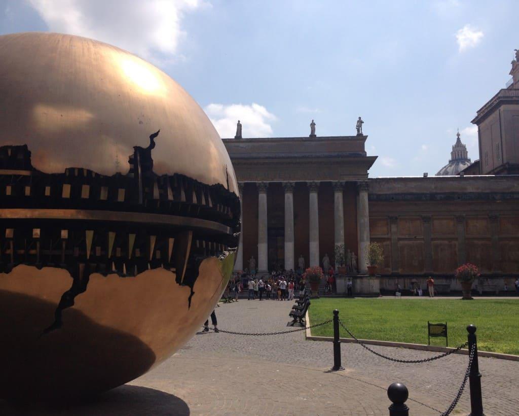 vatican museums gold sphere