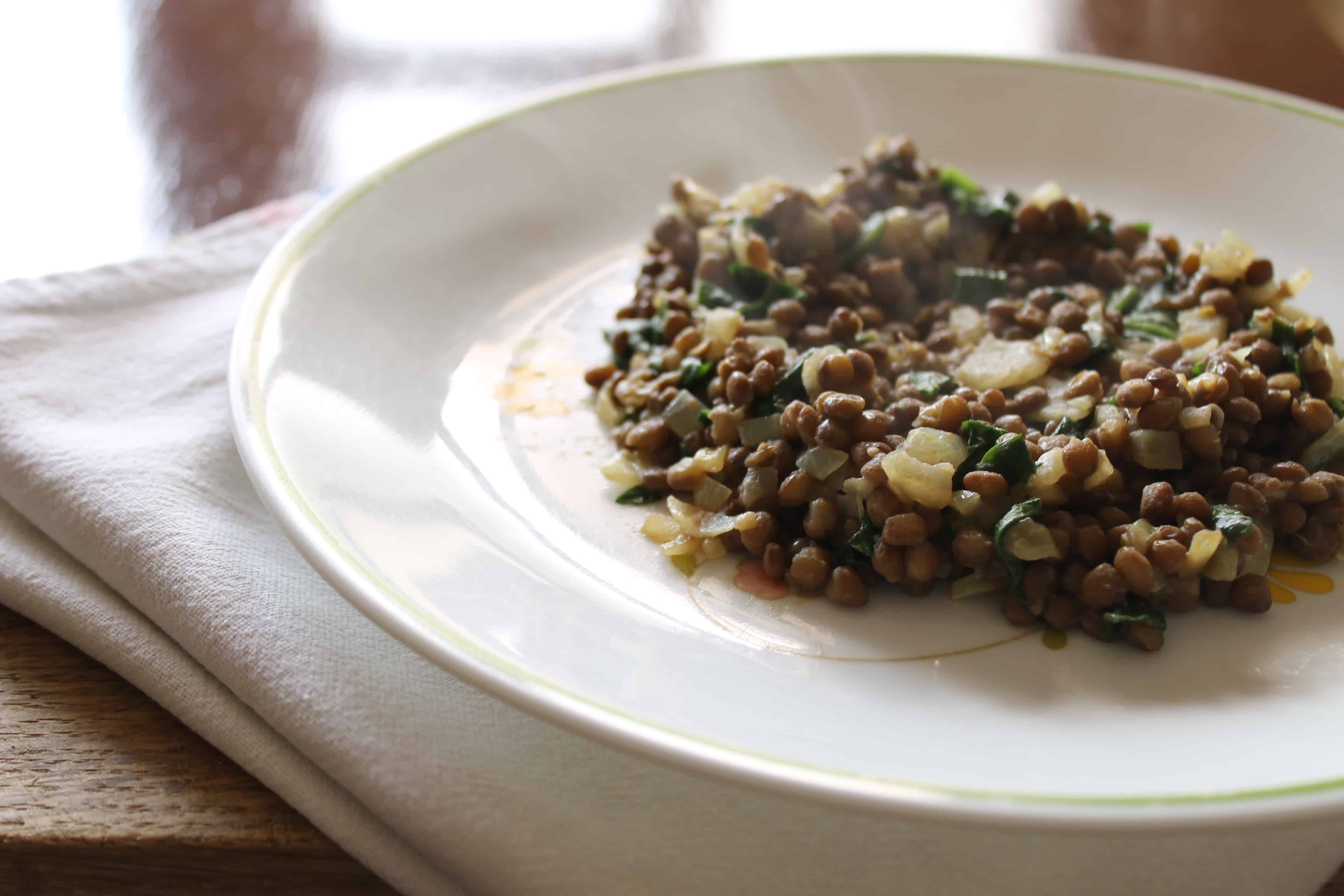 Roasted Fall Vegetables With Lentils Recipe — Dishmaps