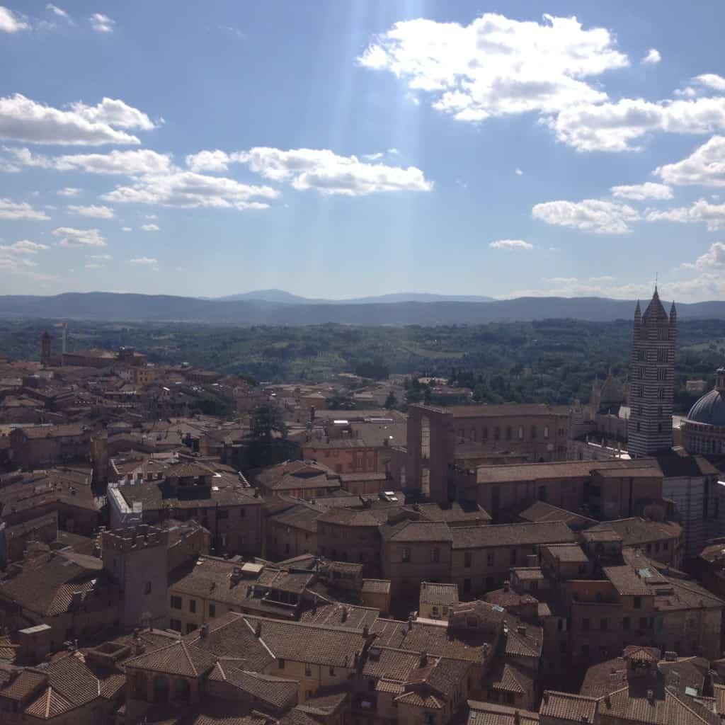 Torre del Mangia view