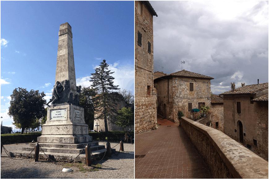 San Gimignano statue