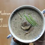 Crème de champignons végétalienne