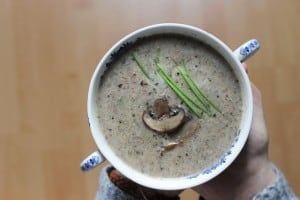 Crème de champignons végane - Valises & Gourmandises
