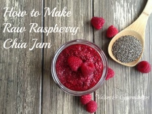 How to make raw raspberry chia jam
