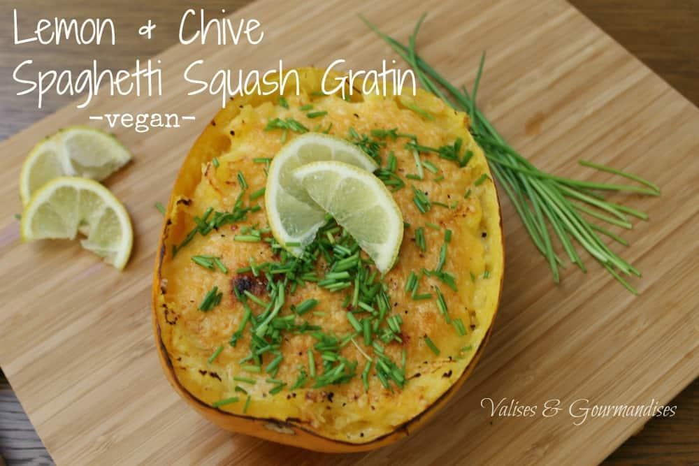 Vegan spaghetti squash gratin