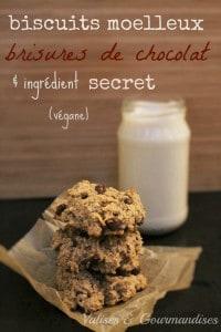Biscuits santé aux brisures de chocolat et aux haricots blancs - végane