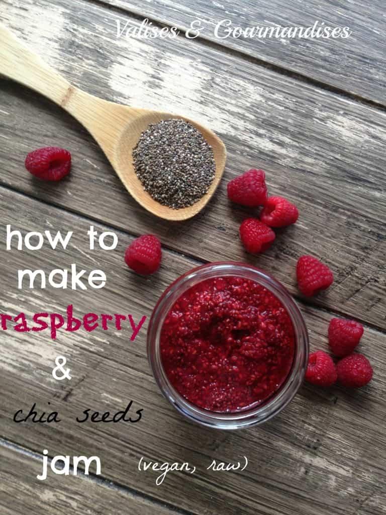 How to make raw raspberry chia jam - vegan & raw - www.valisesetgourmandises.com