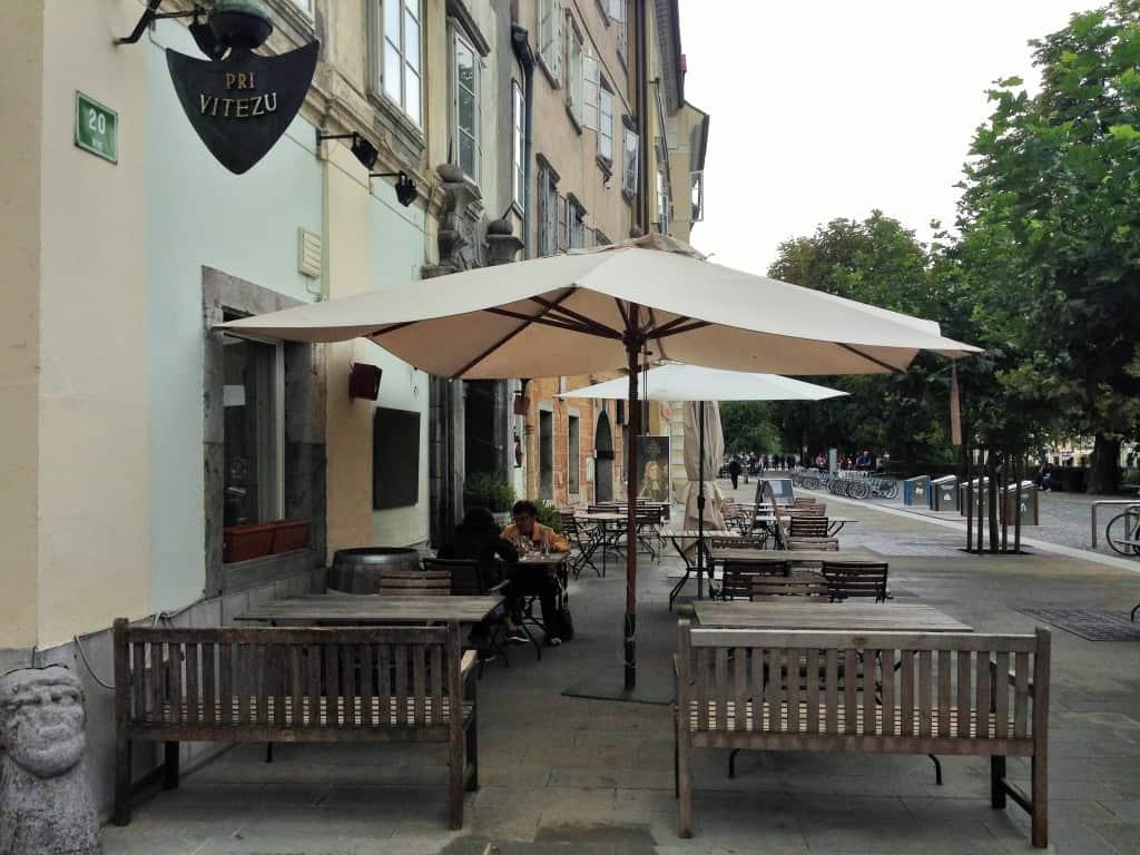 Pri Vitezu restaurant in Ljubljana
