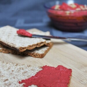White Bean, Beet & Roasted Garlic Hummus