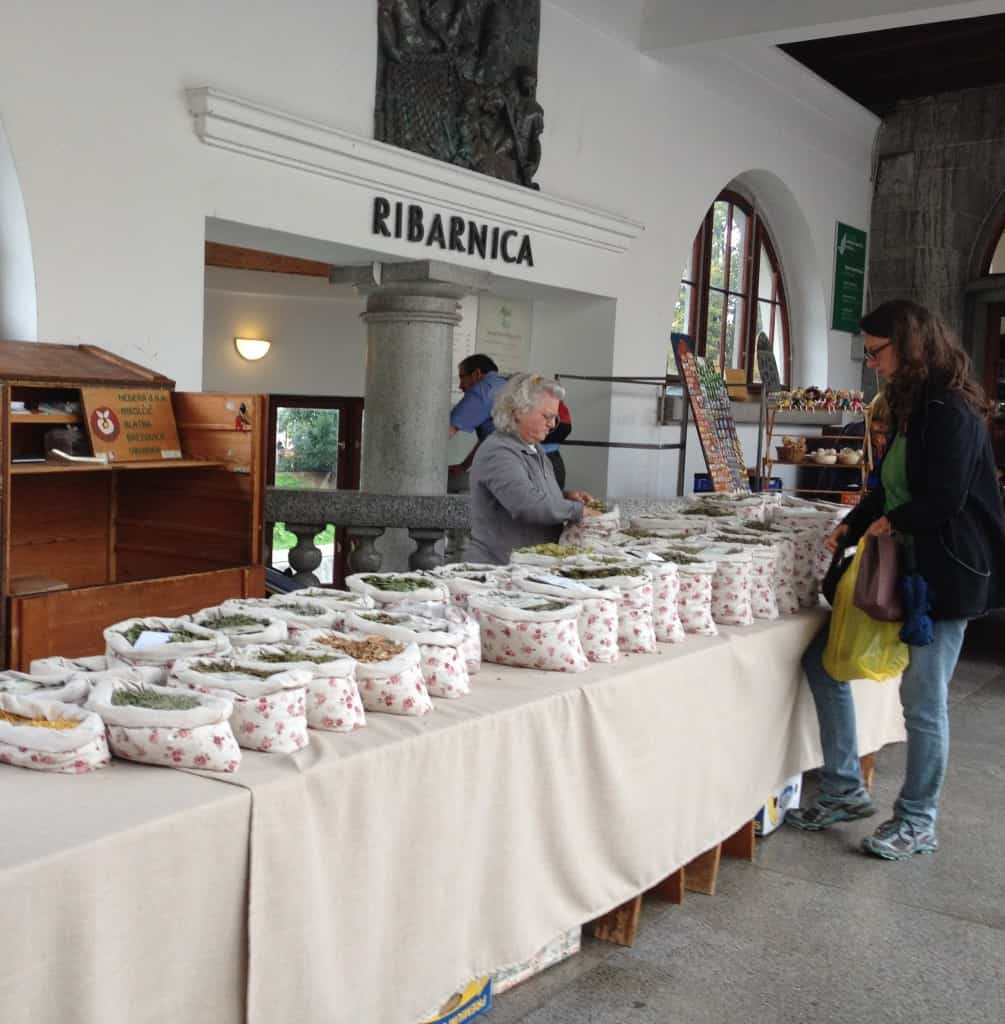 Dried flowers are Ljubljana's market