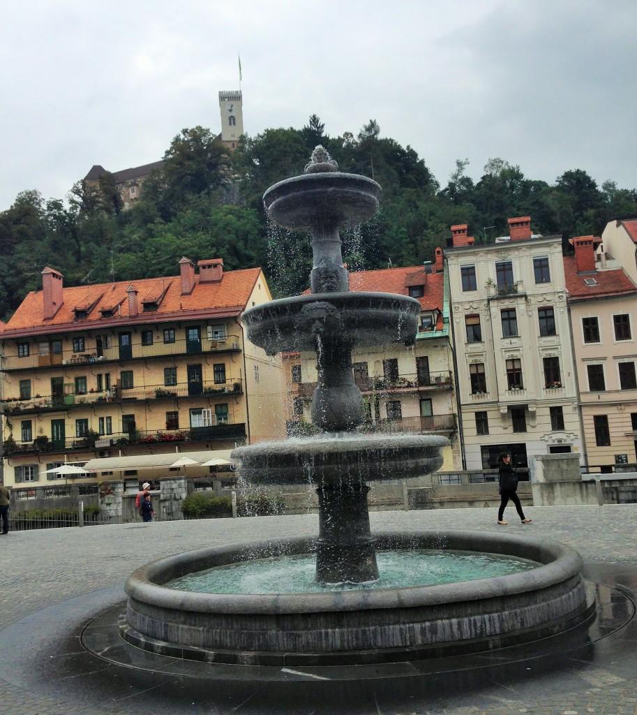 One of the squares of Ljubljana