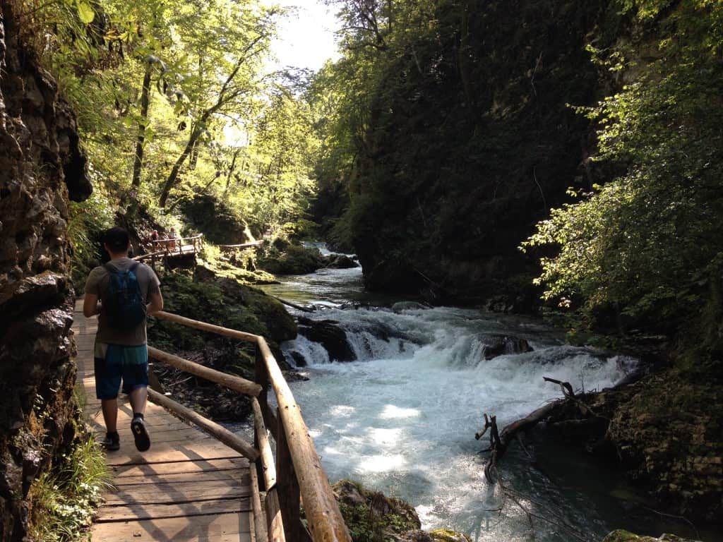 Nice walk in Vintgar Gorges Slovenia