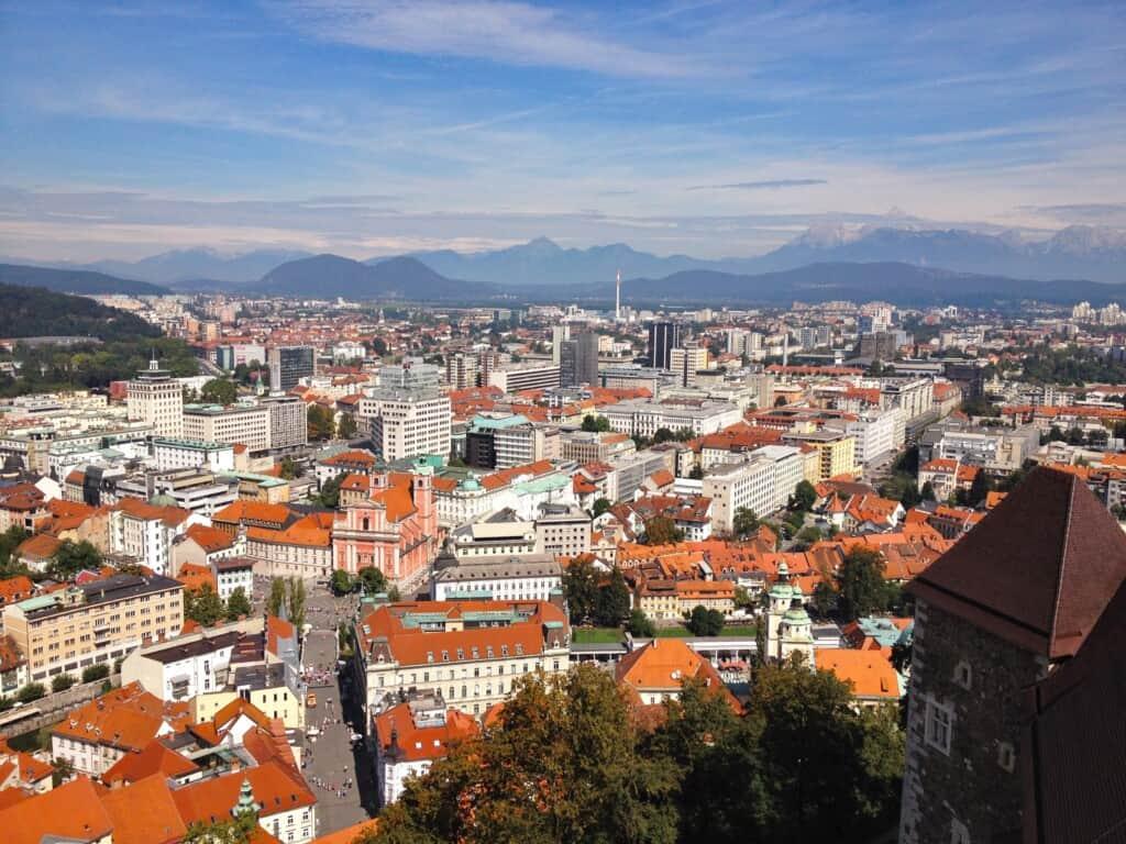 Magnifique vue sur Ljubljana