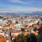 Beautiful view of Ljubljana