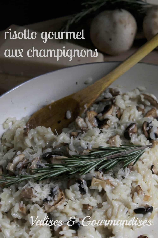 Risotto végétalien aux champignons