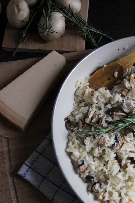 Risotto aux champignons végétalien