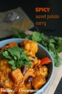 vegan spicy sweet potato curry