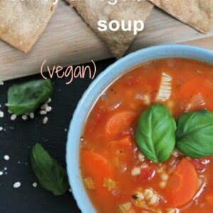 Hearty barley and vegetable soup