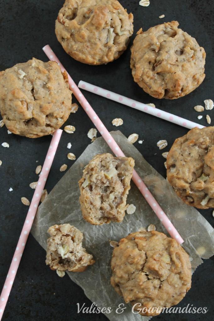Apple & Oats Muffins - Vegan and super healthy! www.valisesetgourmandises.com
