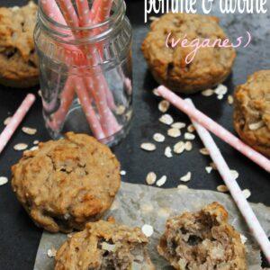 Muffins pomme & avoine - Santé & Végétaliens - www.valisesetgourmandises.com