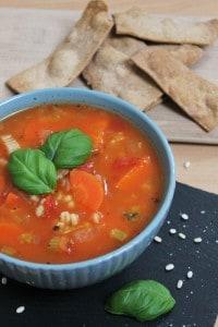 hearty vegan barley & vegetable soup