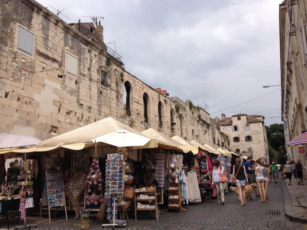 Lavender shops in Split, Croatia