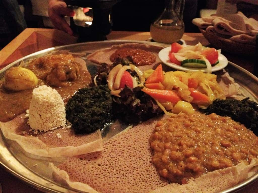 Ethiopian food in Munich