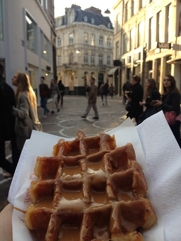 Liège waffle with speculos spread, oh yeah