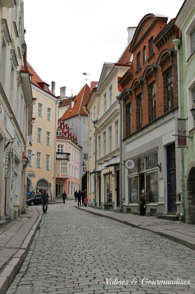 Rues colorées de Tallinn, Estonie