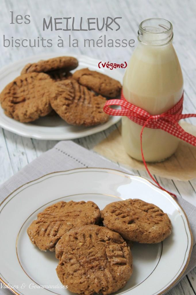 les meilleurs biscuits à la mélasse, végétaliens, blé entier, faibles en gras, moelleux et délicieux!