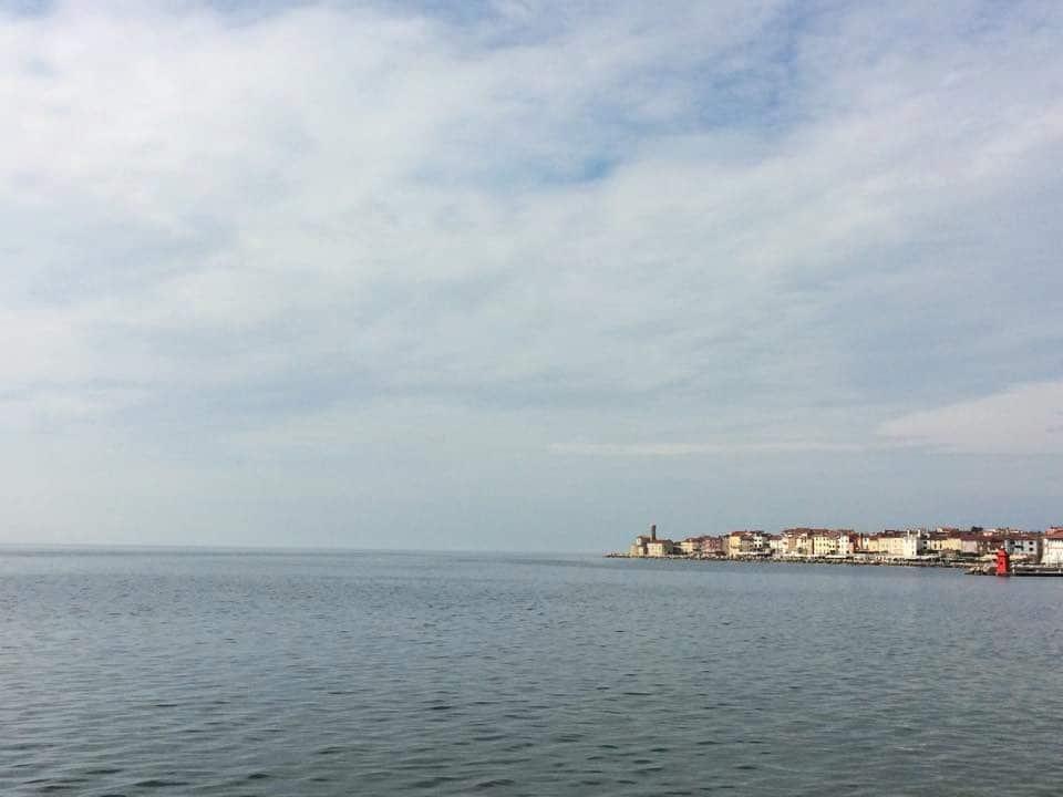 L'Italie vue de Piran, Slovénie