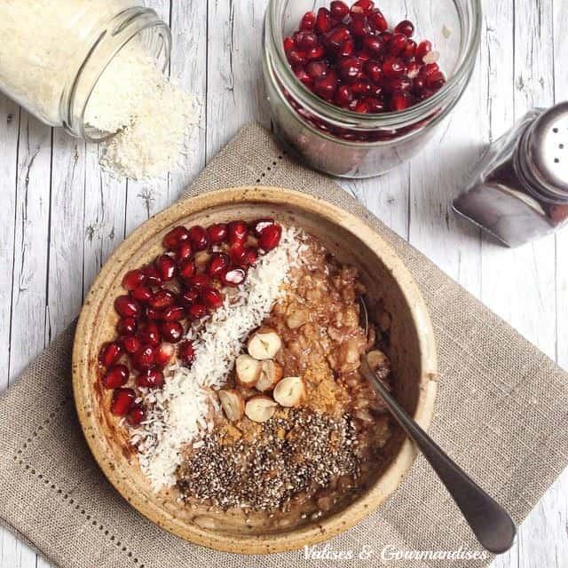Vegan morning oatmeal