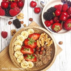 morning oatmeal - a scrumptious vegan breakfast