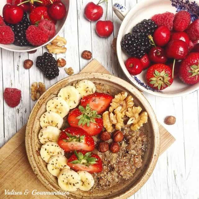 gruau matinal - un petit-déjeuner végane et délicieux
