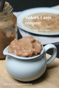 rhubarb and date fruit compote