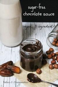 sugar-free chocolate sauce - vegan and only 3 ingredients