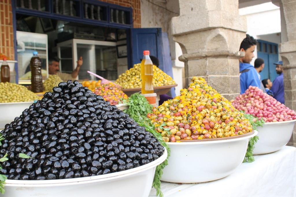 Olives au marché d'Essaouira