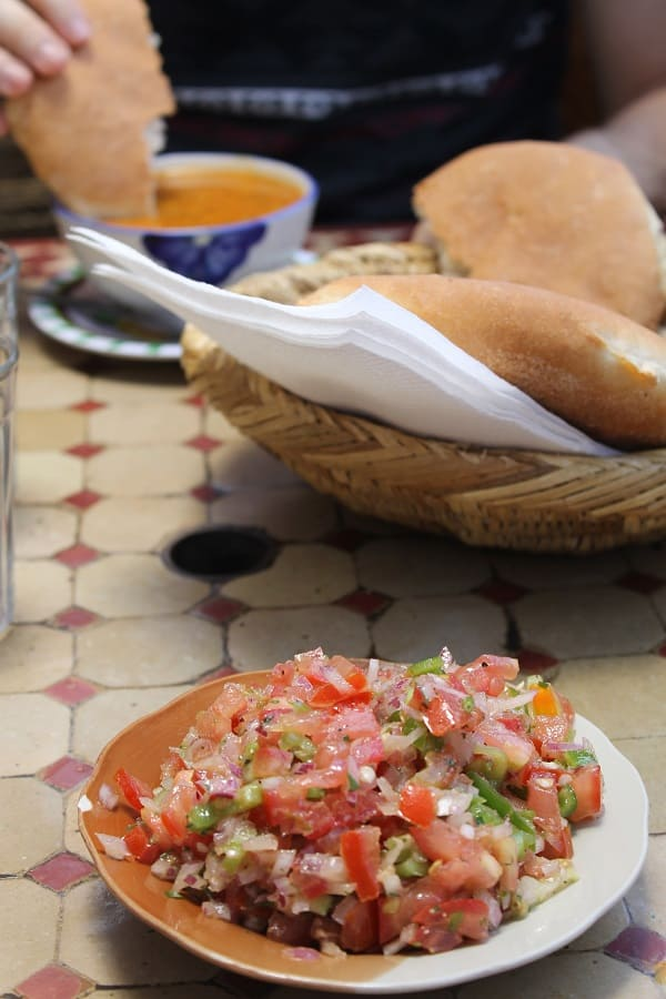 Traditional Moroccan salad