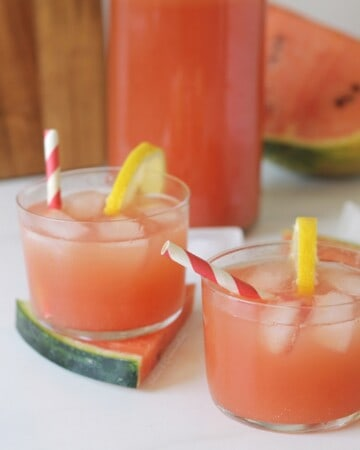 Watermelon lemonade with white tea
