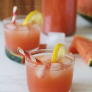 thé glacé maison à la limonade, sans sucre ajouté