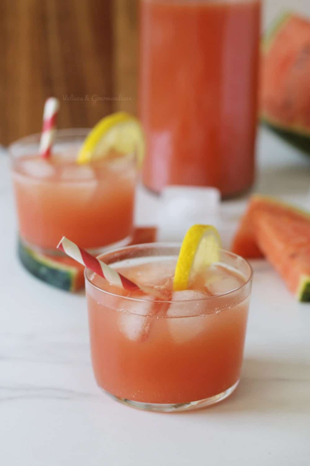 watermelon iced tea recipe - Valises & Gourmandises