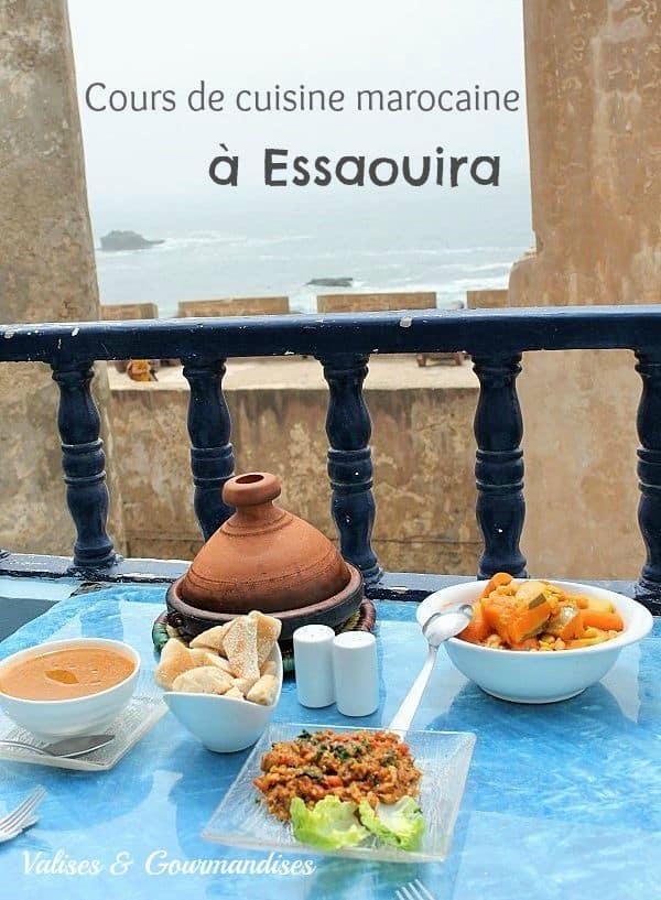 cours de cuisine marocaine à Essaouira, Maroc
