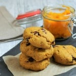 Chewy pumpkin and chocolate chip cookies