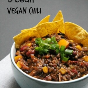 3-bean vegan chili - Valises & Gourmandises
