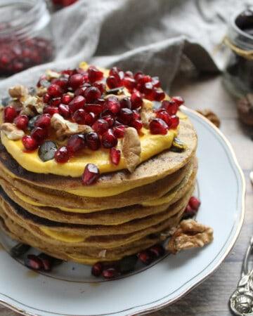 pile de pancakes à la citrouille