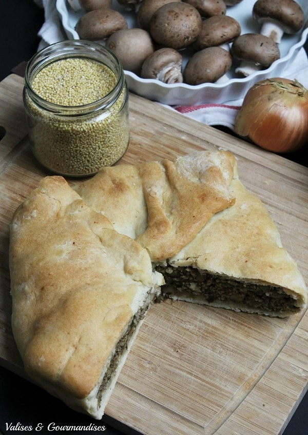 Vegan Québec-style meat pie - A classic from Québec made with millet and veggies instead of meat!