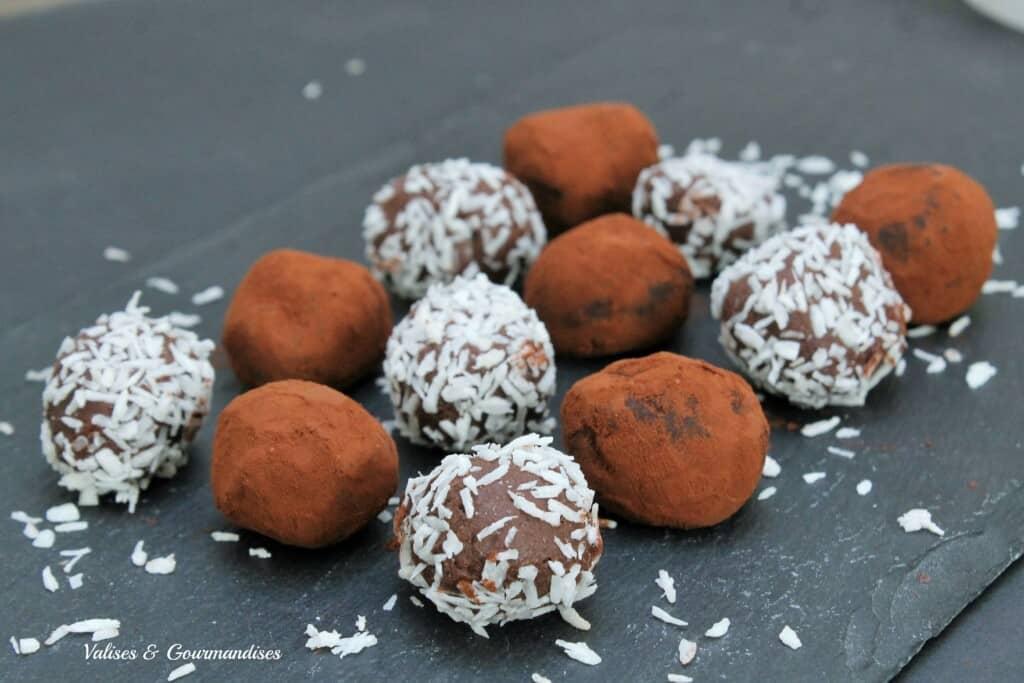 truffes au chocolat véganes faciles